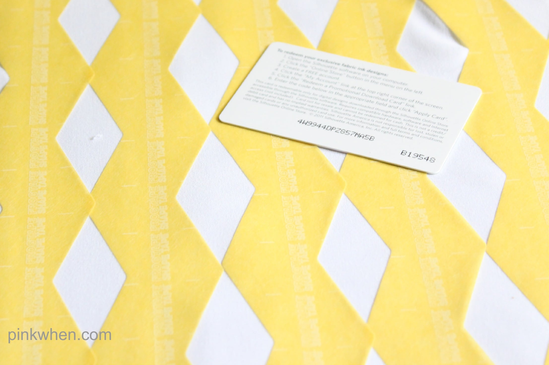 Easy DIY Fabric Painted and Patterned Pillow Case with FrogTape® Shape Tape™ via PinkWhen.com 6