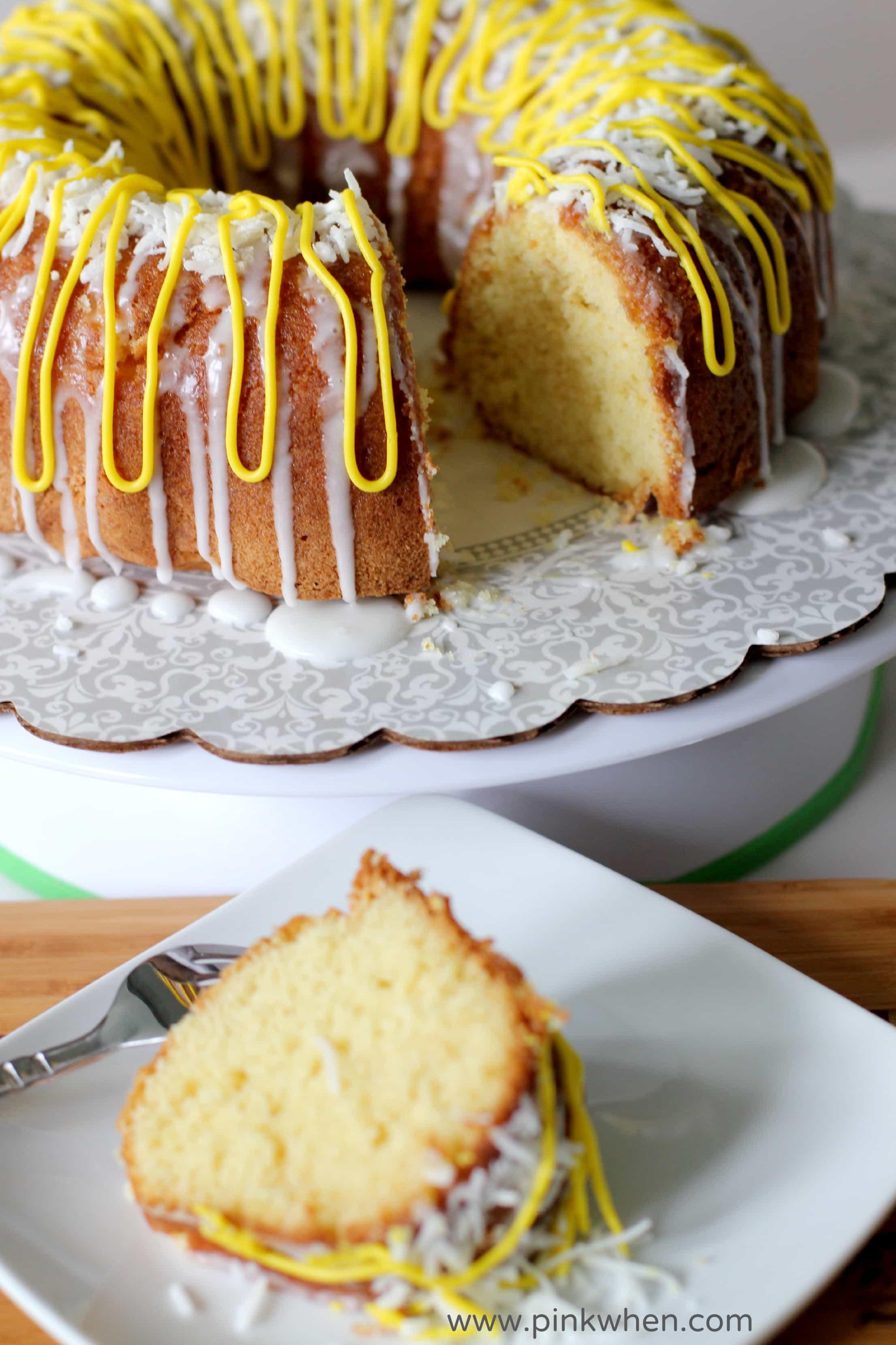 Easy Lemon Cake With Raspberry Filling
