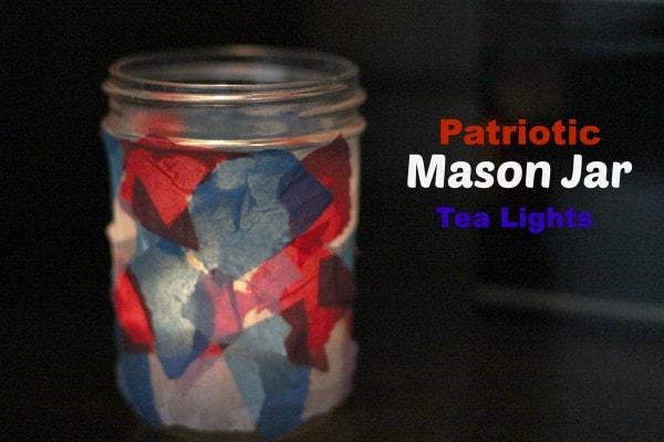 Patriotic Mason Jar tea Lights