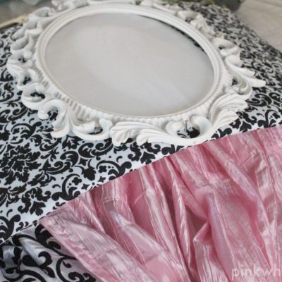 How to Make a No Sew Bed Crown Cornice