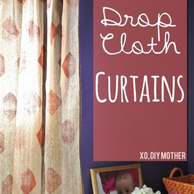 Stamped Drop Cloth Curtain Tutorial