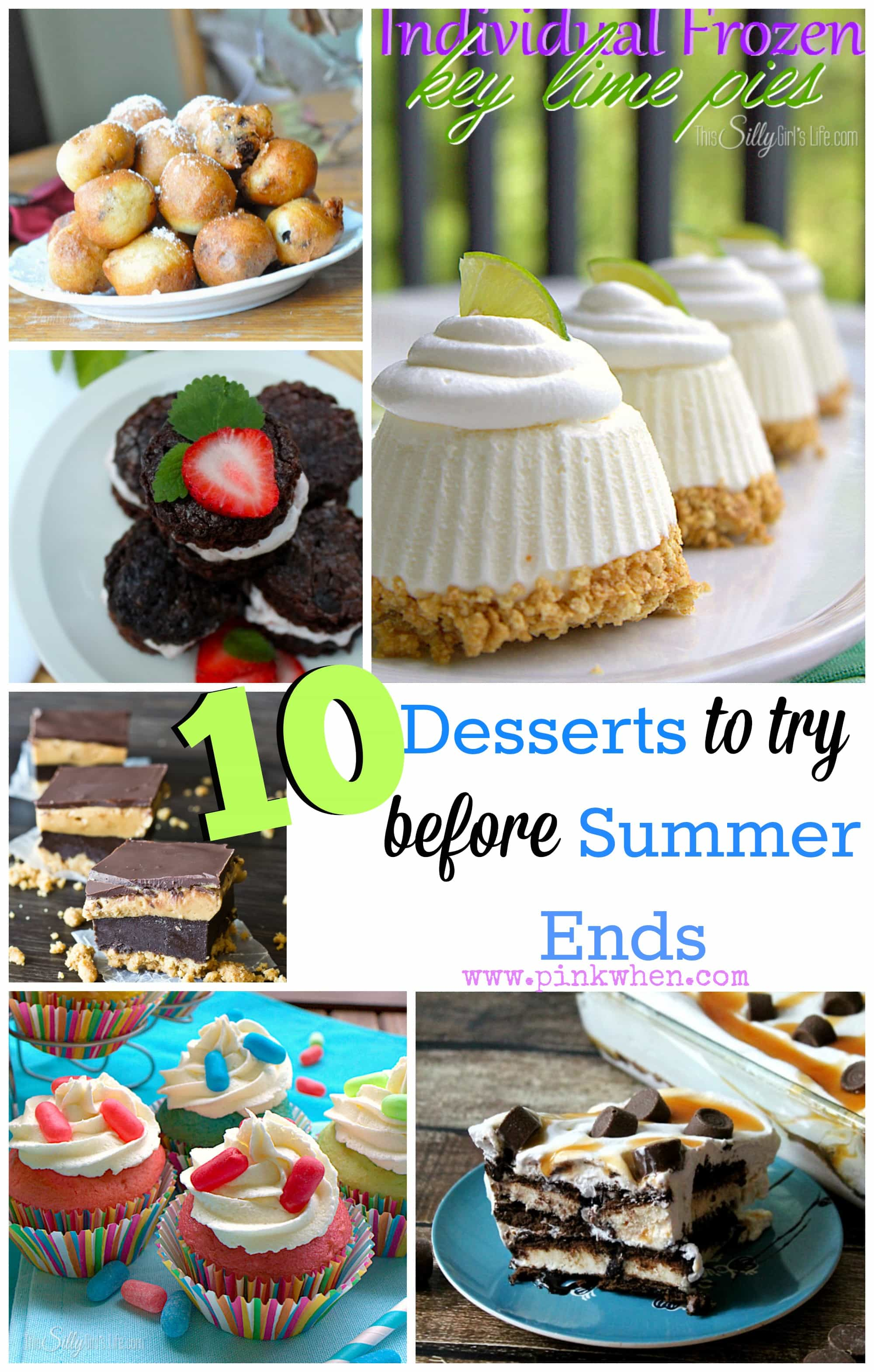 10 Desserts to Try Before Summer Ends via PinkWhen.com