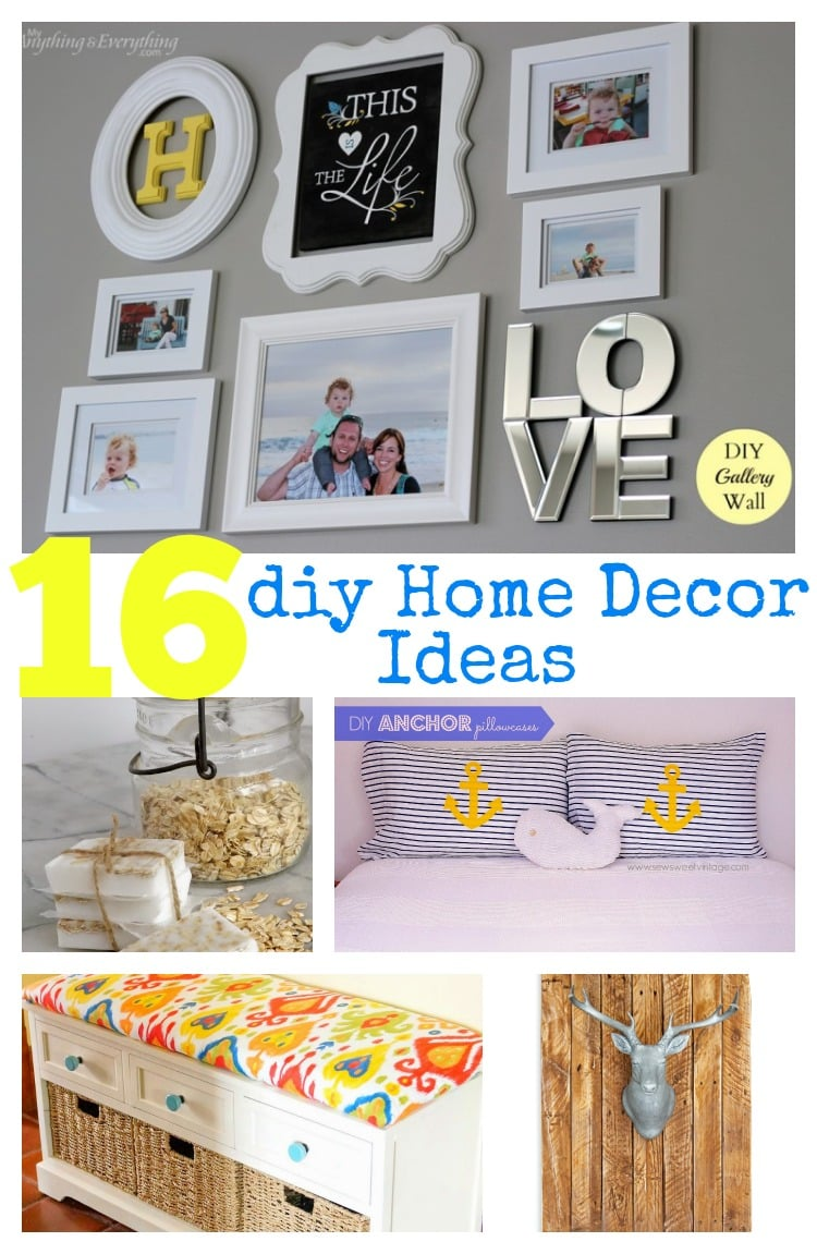 16 diy home decor ideas pinkwhen for Handmade home decorations ideas