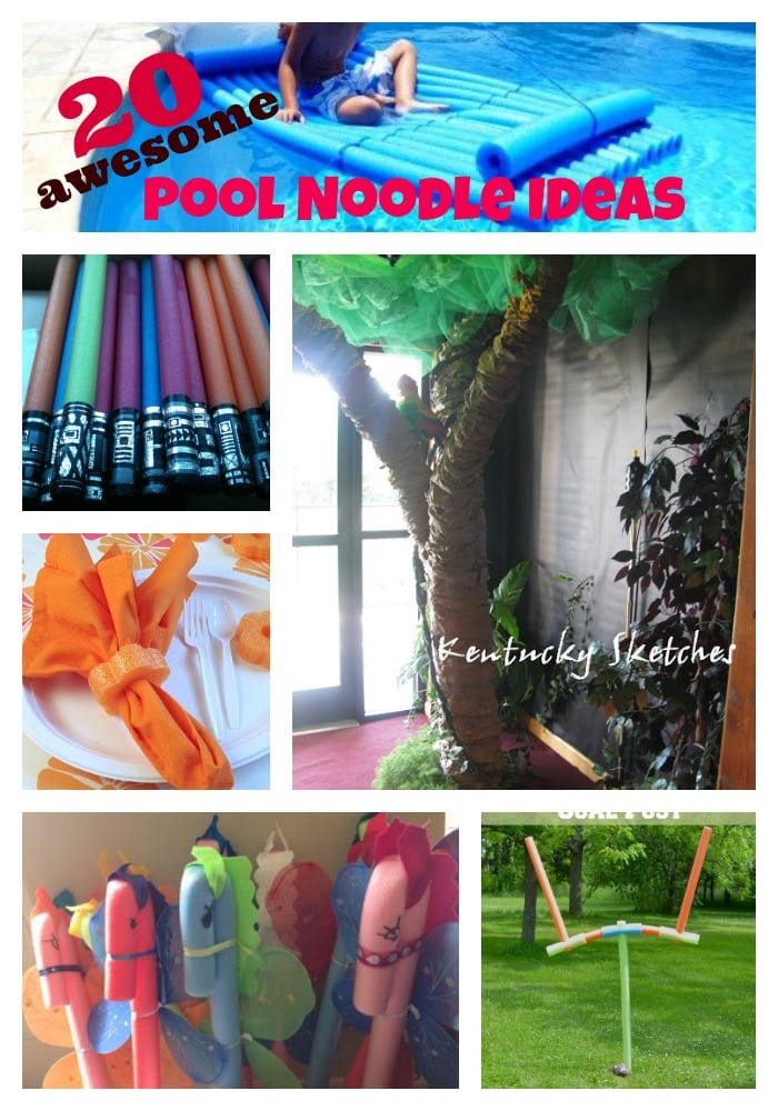 20 Awesome Pool Noodle Ideas via PinkWhen.com