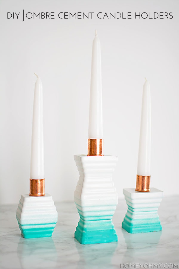 3-Ombre-cement-candle-holders