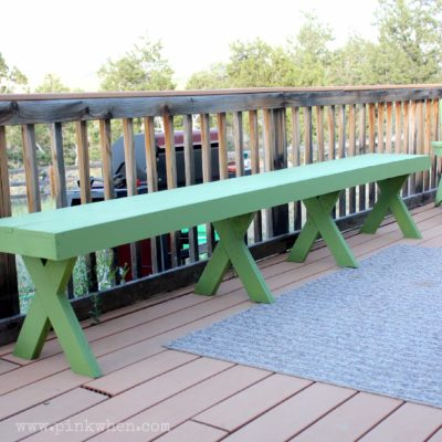 DIY $20 Outdoor Patio Bench
