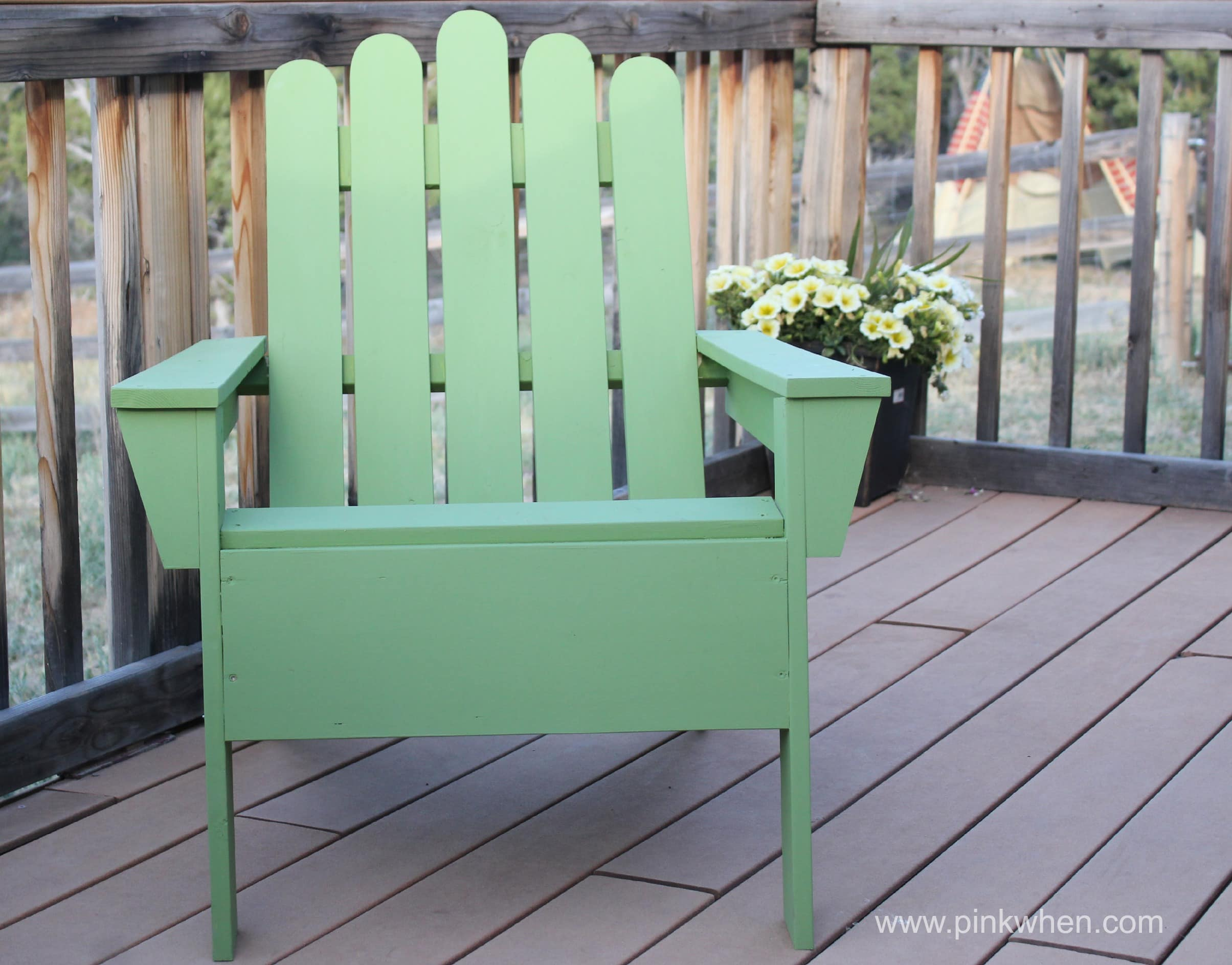 DIY Adirondack Chair via PInkWhen.com