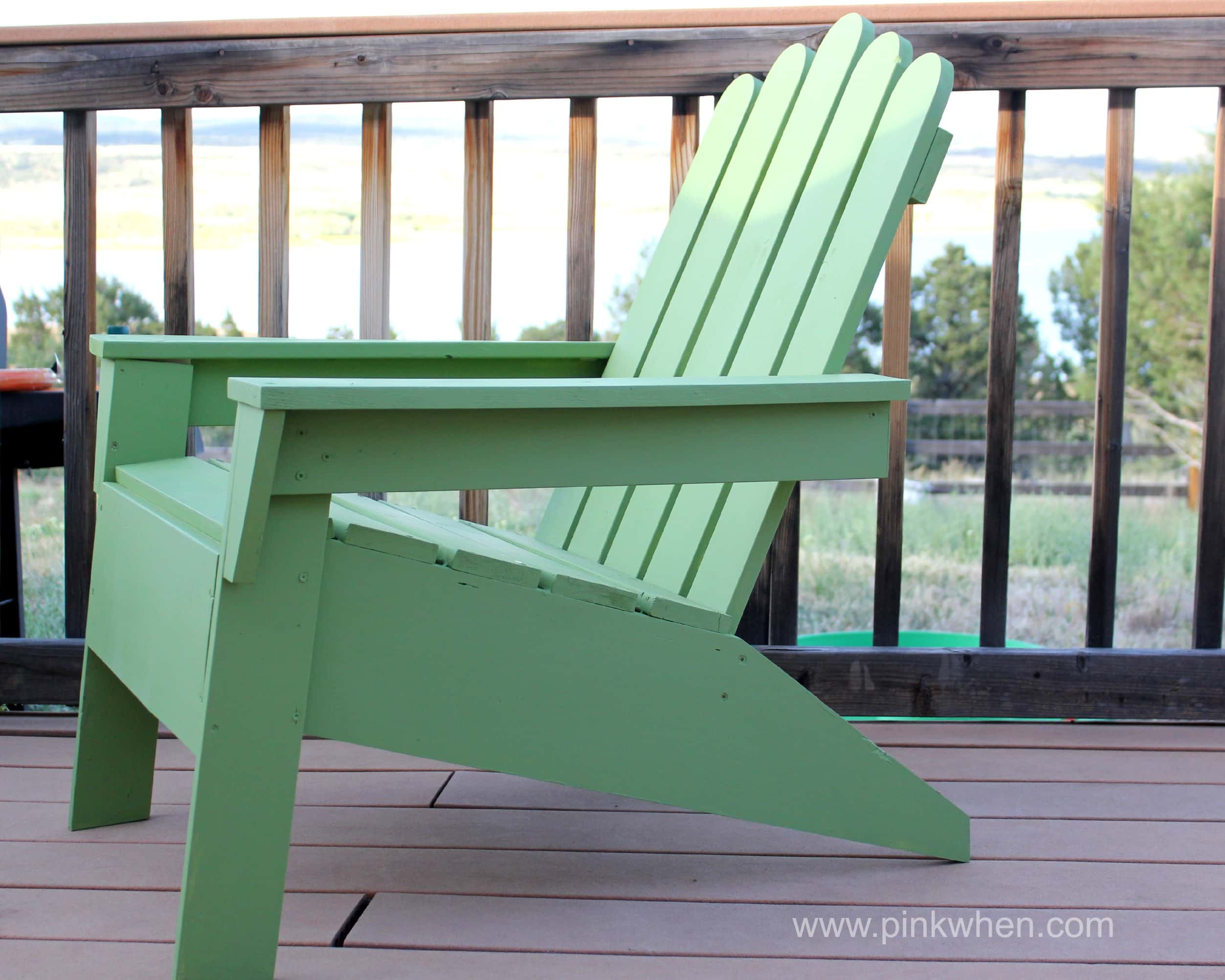 DIY Adirondack Chairs PinkWhen