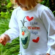 DIY Frozen Olaf Shirt