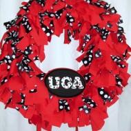DIY Fabric College Football Wreath Tutorial