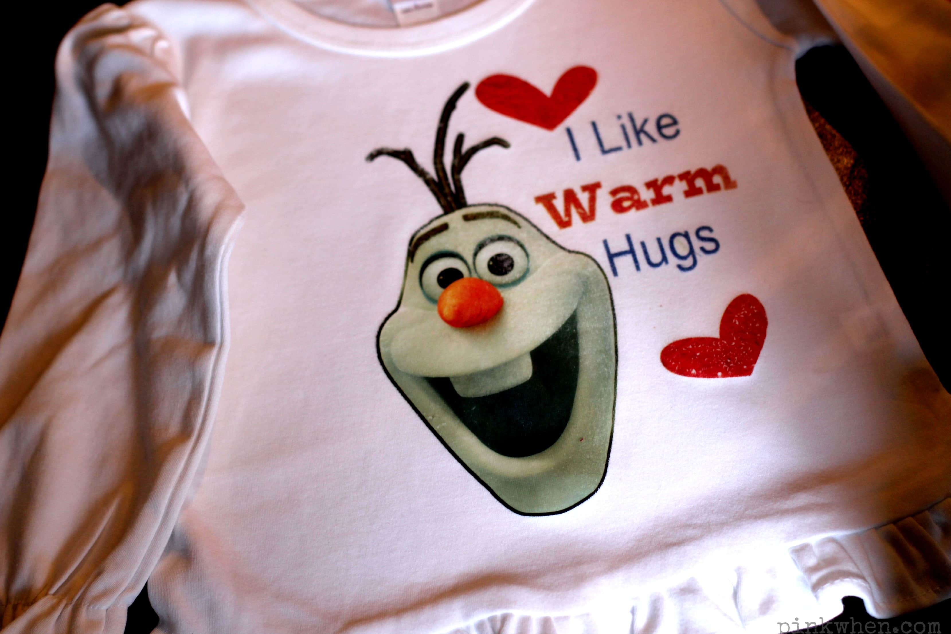 DIY Frozen Olaf Shirt Tutorial via PinkWhen.com
