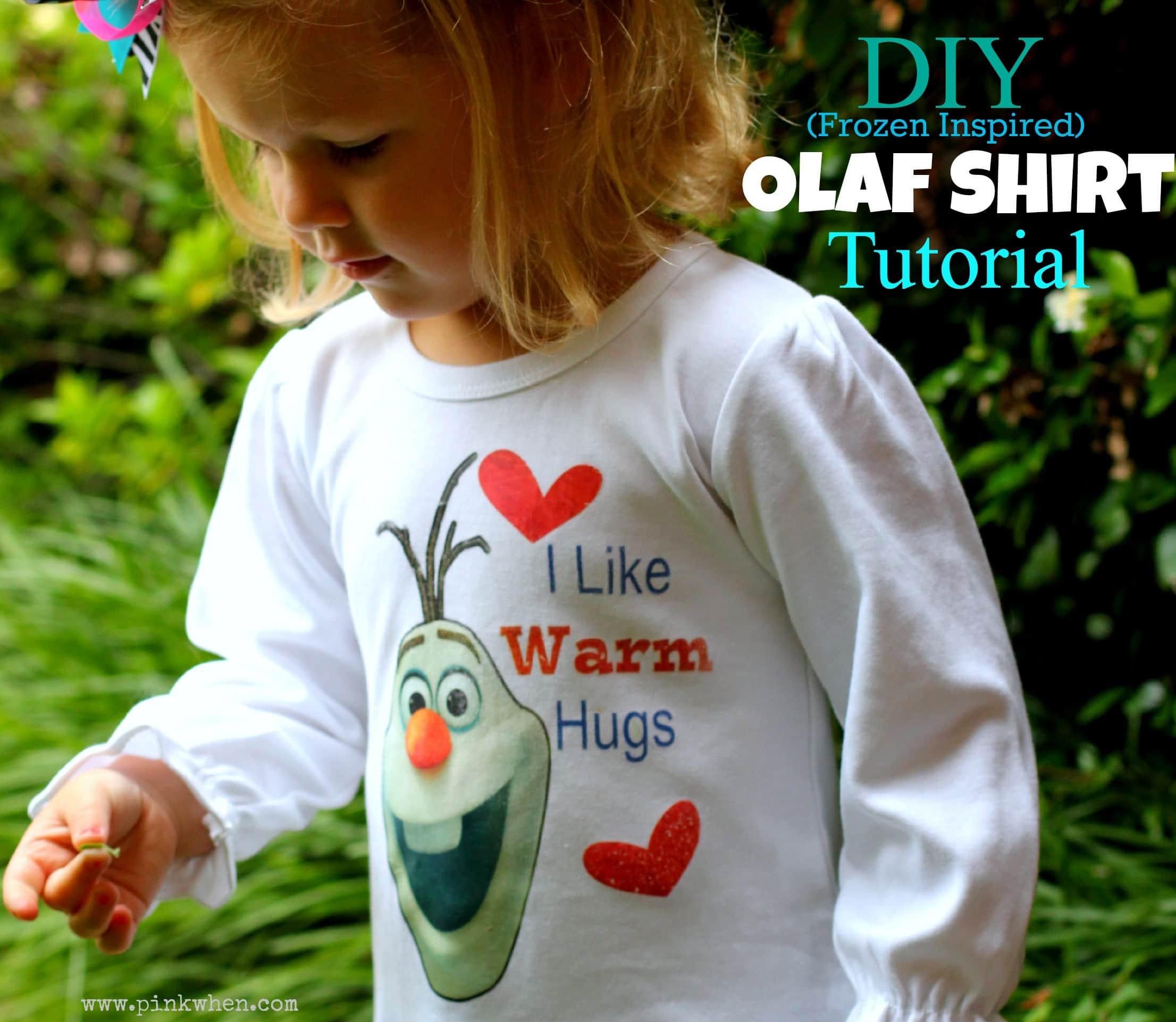 DIY Inspired Frozen Olaf Shirt Tutorial via PinkWhen.com