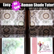 Simple No Sew Roman Shades