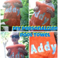 DIY Personalized Pool Towel