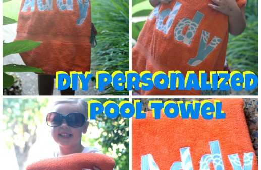 Easy DIY Personalized Pool Towel via PinkWhen.com 1