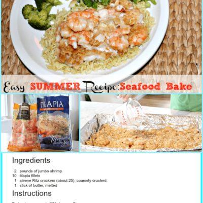 Fresh Summer Seafood Bake