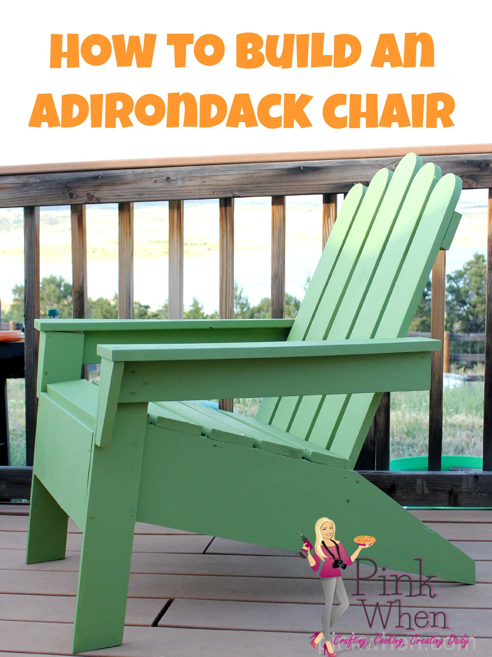 How to Build Your Own Adirondack Chair via PinkWhen.com