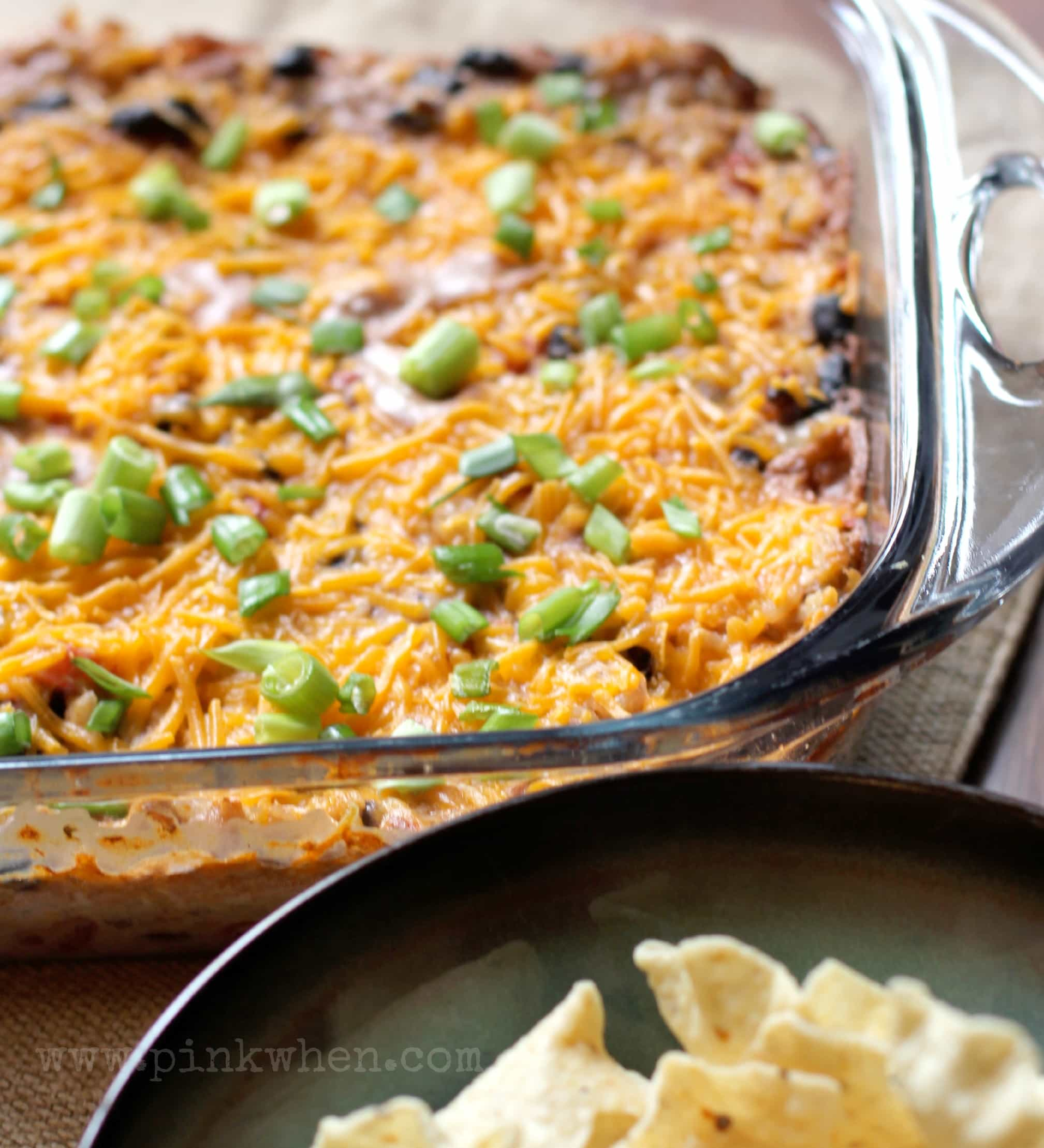 Delicious Mexican Chicken Casserole - PinkWhen