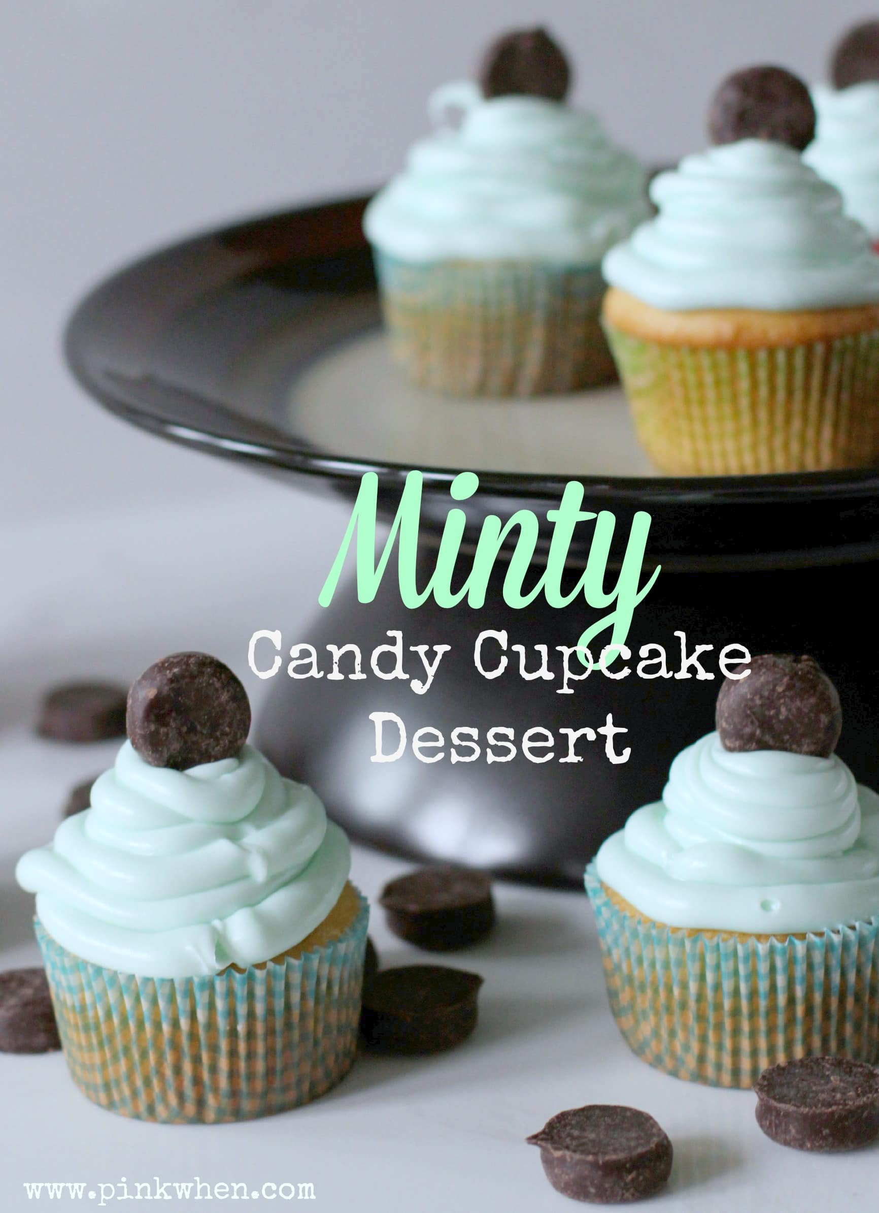 Minty Candy Cupcake Desserts with Hershey's® York Minis