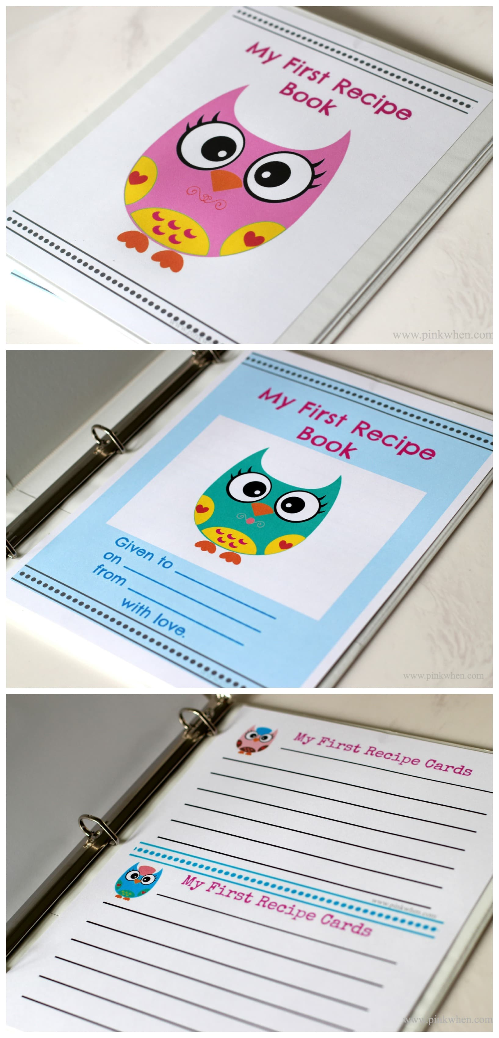 My First Recipe Book Series of Free Printables from PinkWhen.com