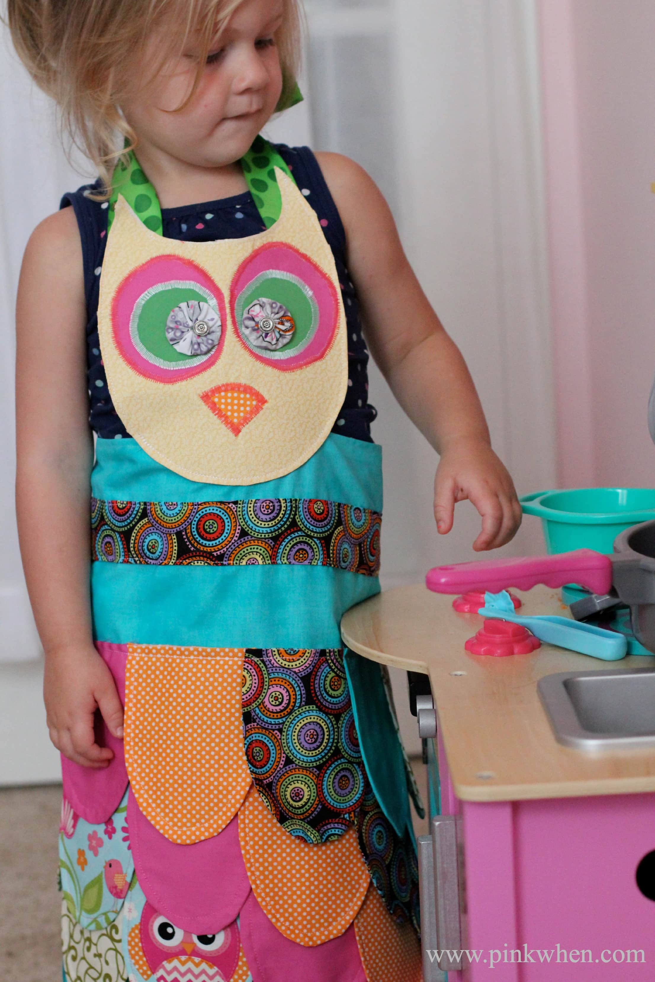 My Little Owl Apron and Pattern from PinkWhen.com