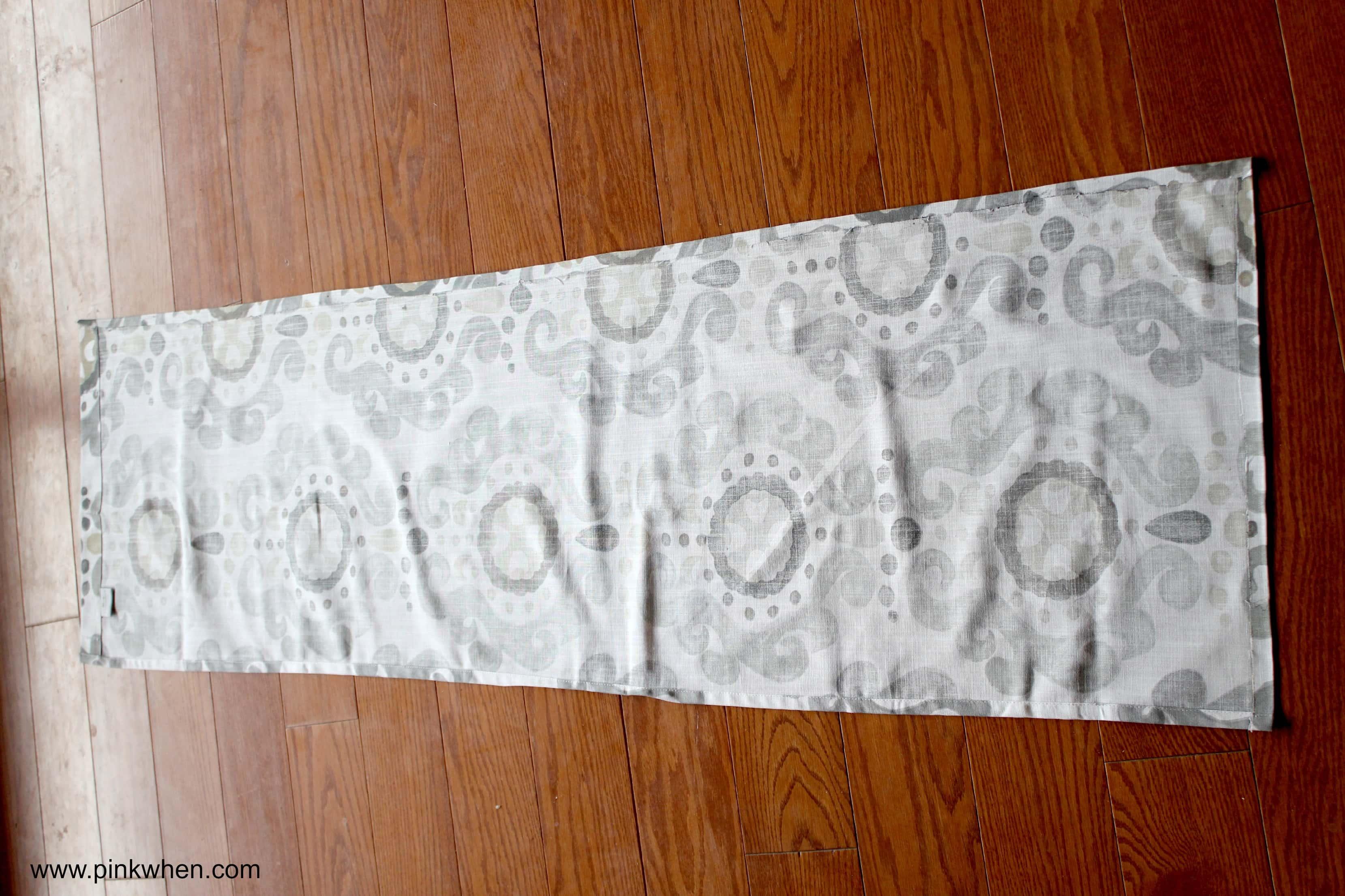 simple no sew roman shade tutorial how to create the seams