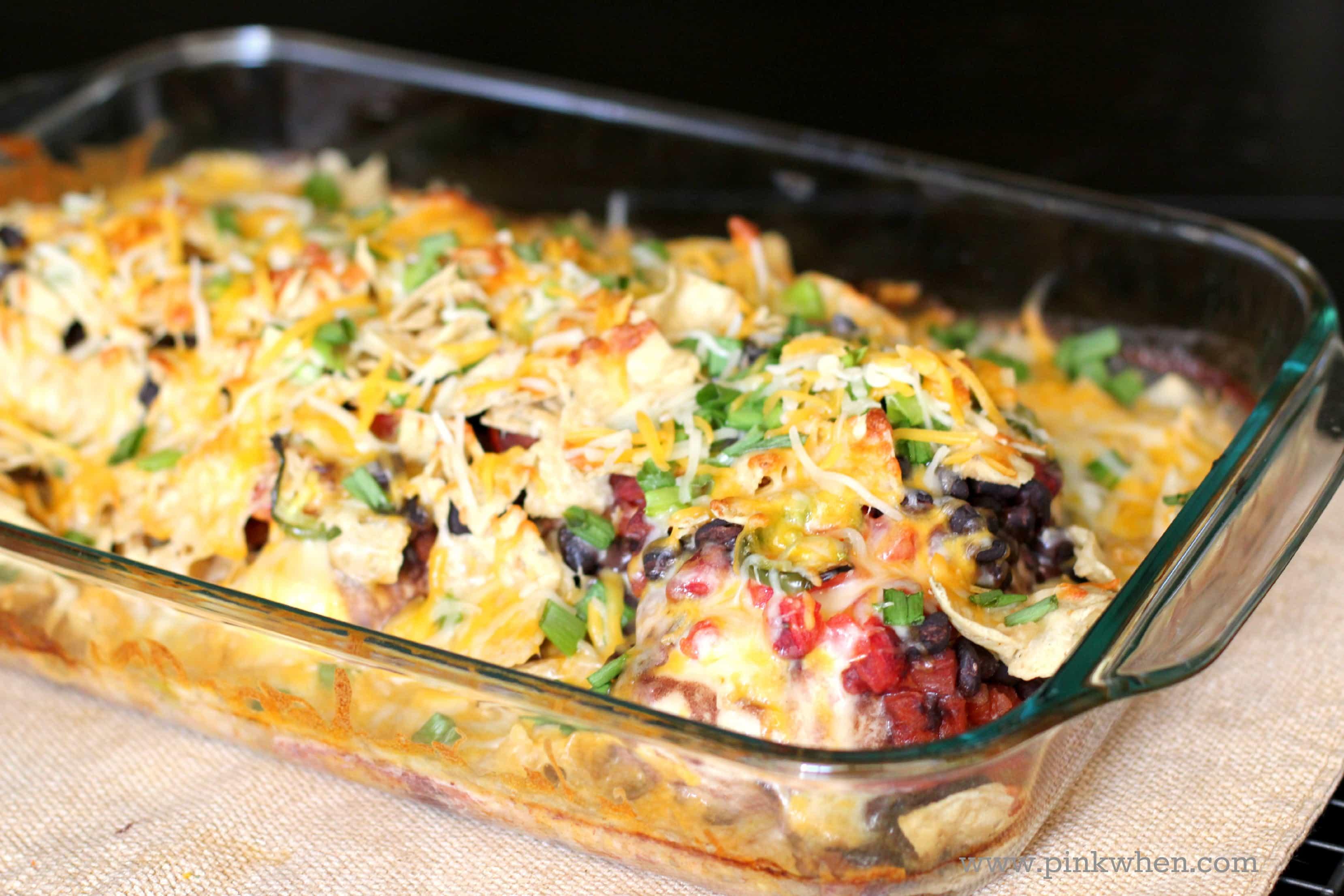 Southwest Cheesy Chicken Casserole Dish