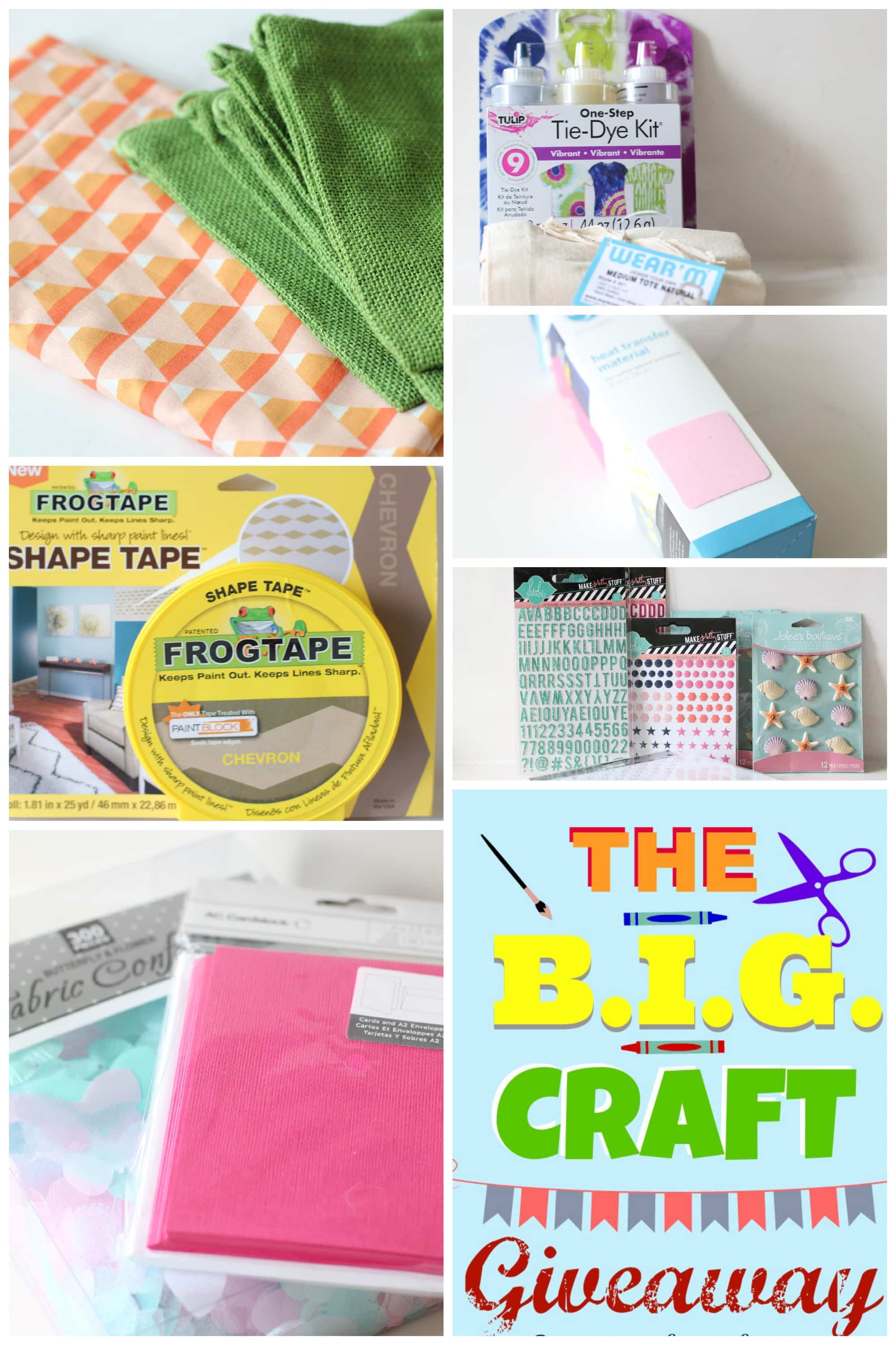The B.I.G. Craft Giveaway from PinkWhen.com along with 31 other AMAZING Craft Bloggers! We are giving away some FABULOUS supplies and gift cards!