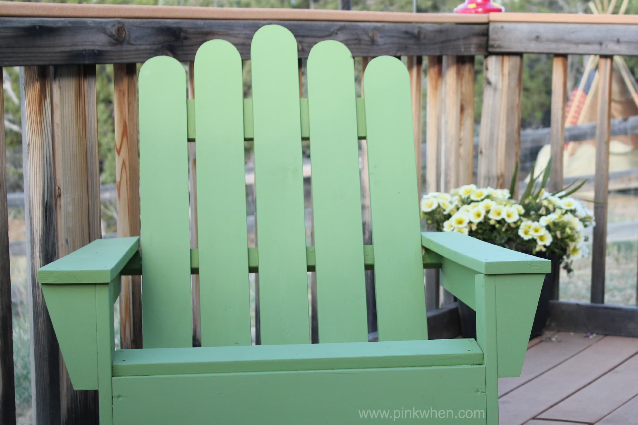 how to build an adirondack chair and round the back