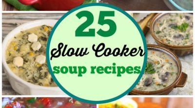 25 Slow Cooker Soup Recipes via PinkWhen.com