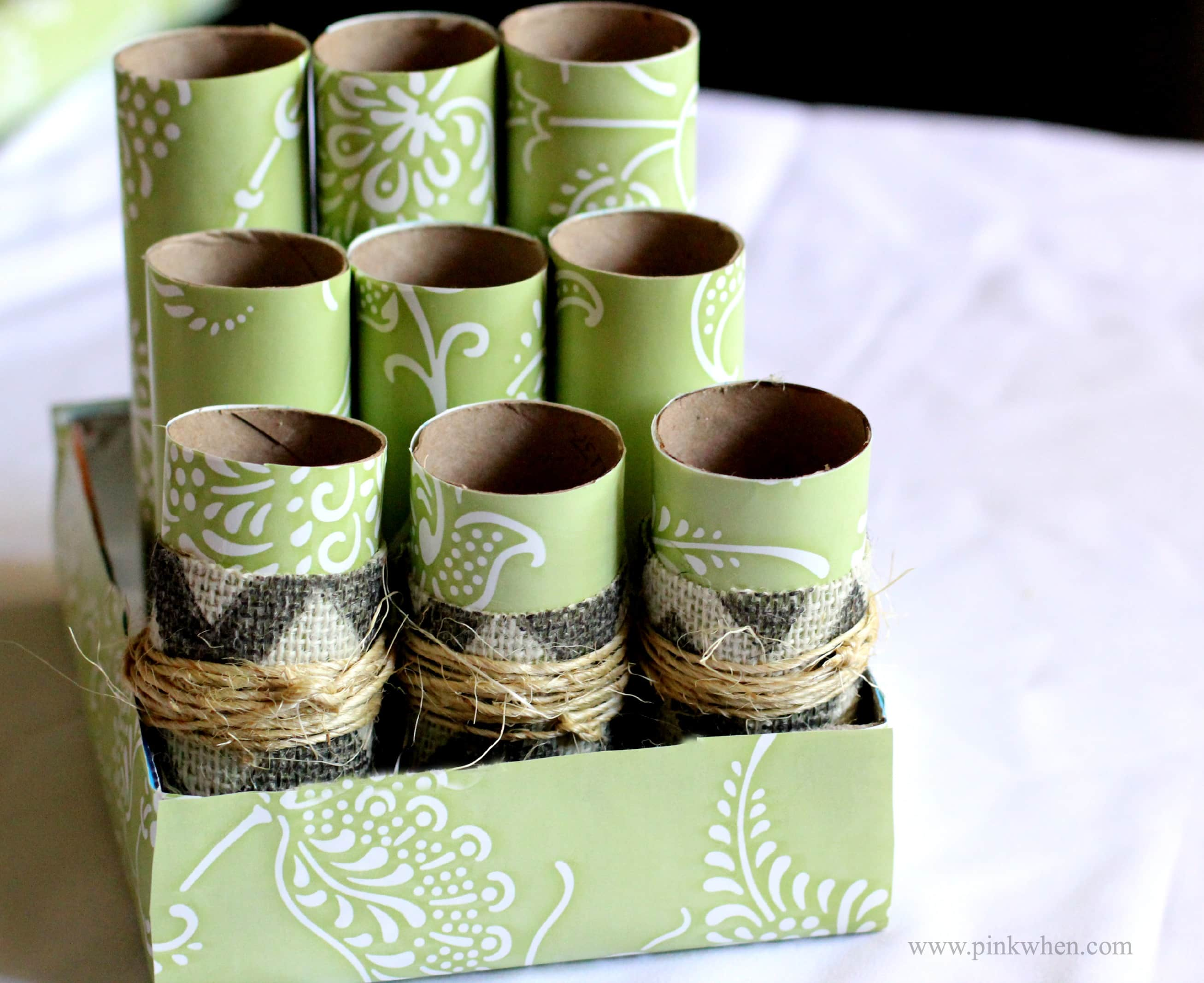 DIY Cardboard Roll Desk Caddy #ad #valueseekersclub