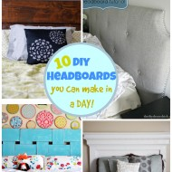 10 DIY Headboards You Can Make in a DAY!