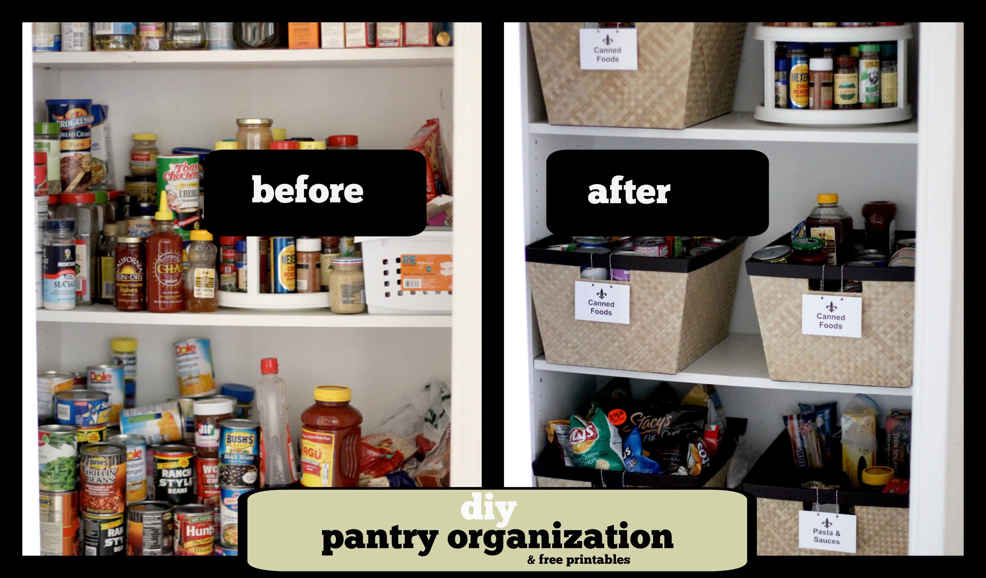 For Organizing Kitchen Pantry Diy Pantry Organization Project Page 2 Of 2 Pinkwhen