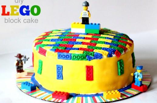 DIY Lego Block Cake via PinkWhen.com