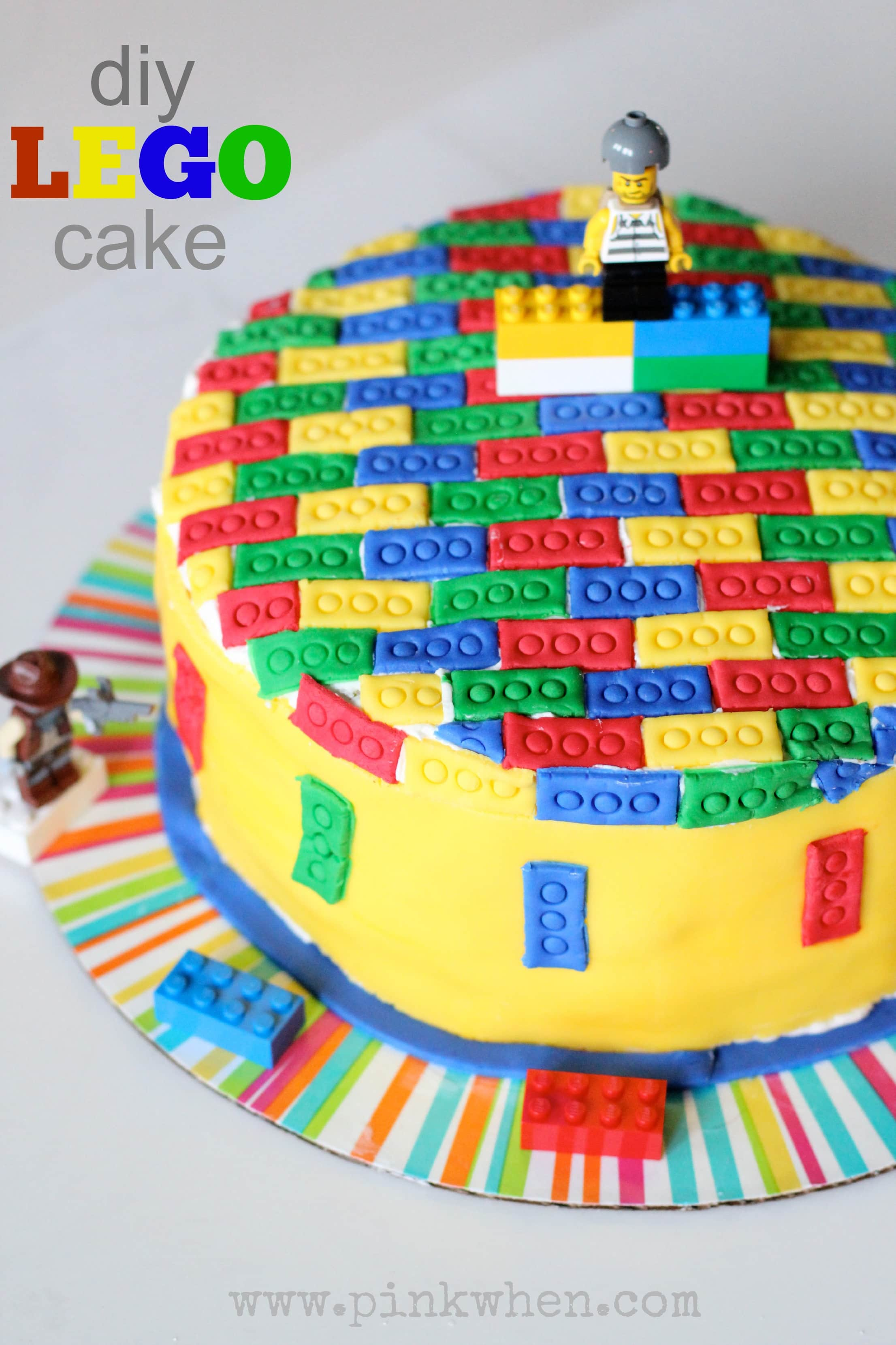 DIY Lego Cake via PinkWhen.com