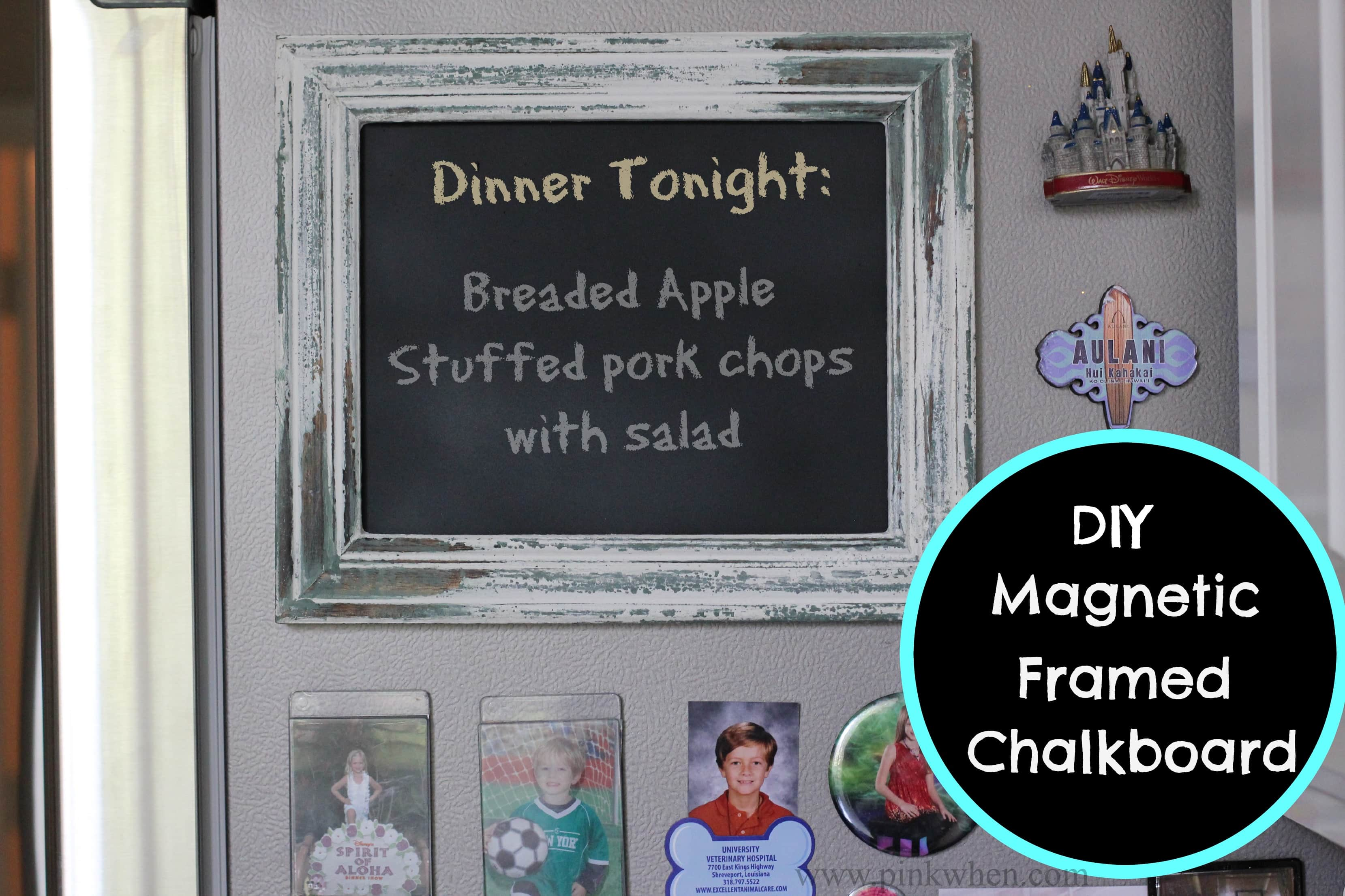 DIY Magnetic Framed Chalkboard
