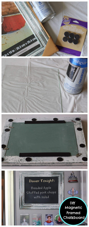 DIY Magnetic Framed Chalkboard