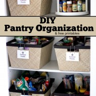 DIY Pantry Organization Project
