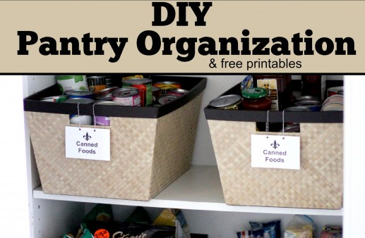 DIY Pantry Organization via PinkWhen.com