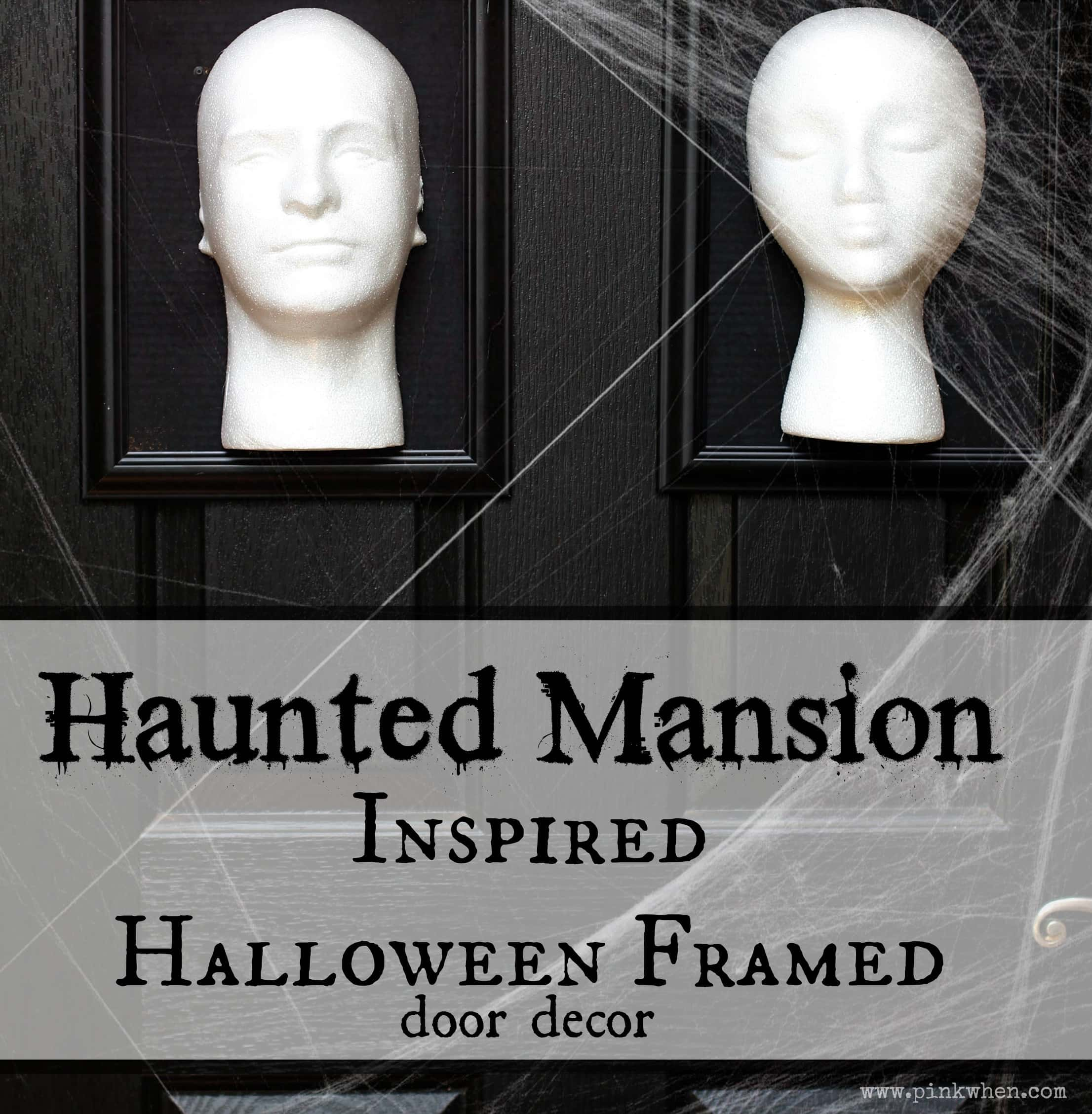 Haunted Mansion Inspired Halloween Framed 3D Door Decor