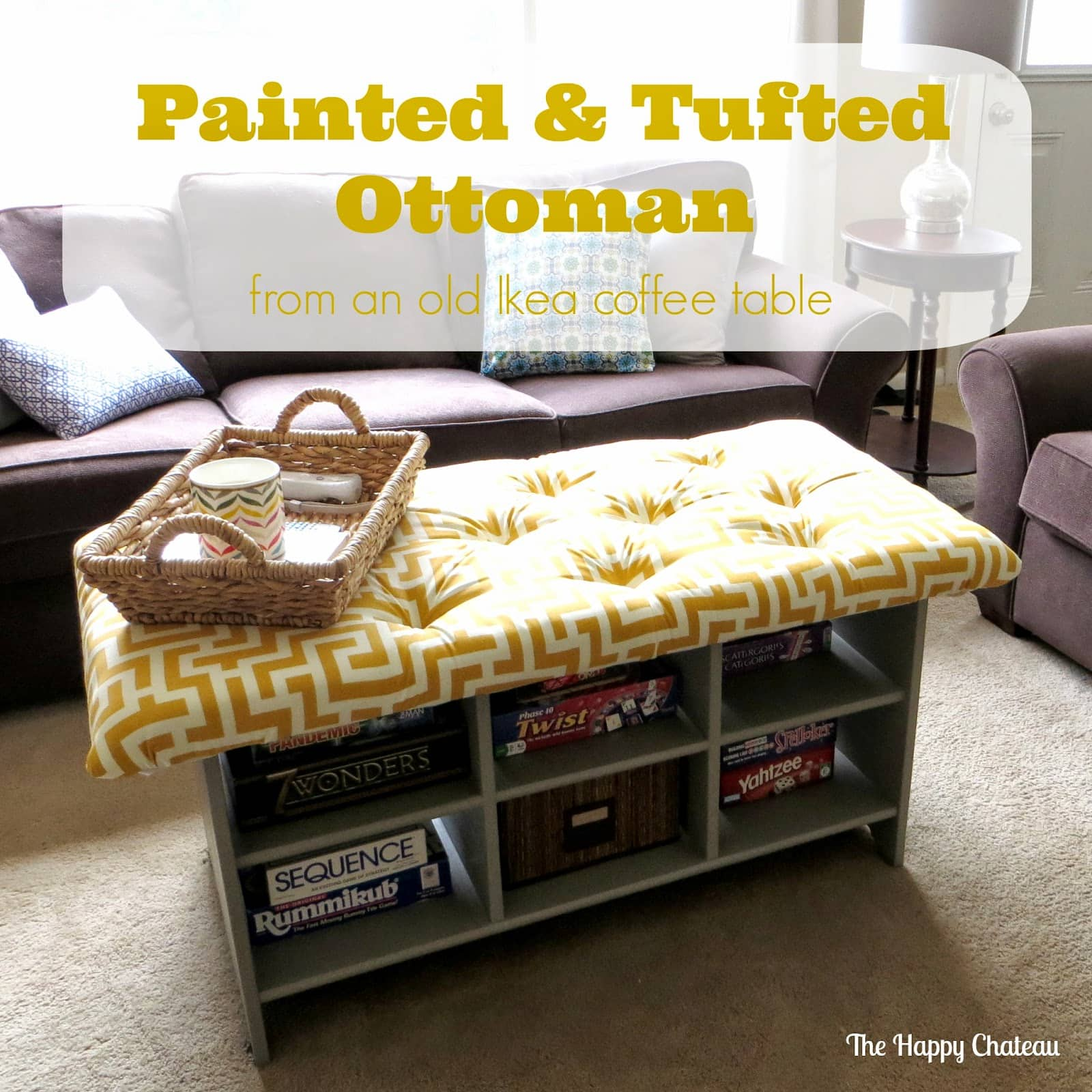 Painted & Tufted Ottoman - The Happy Chateau