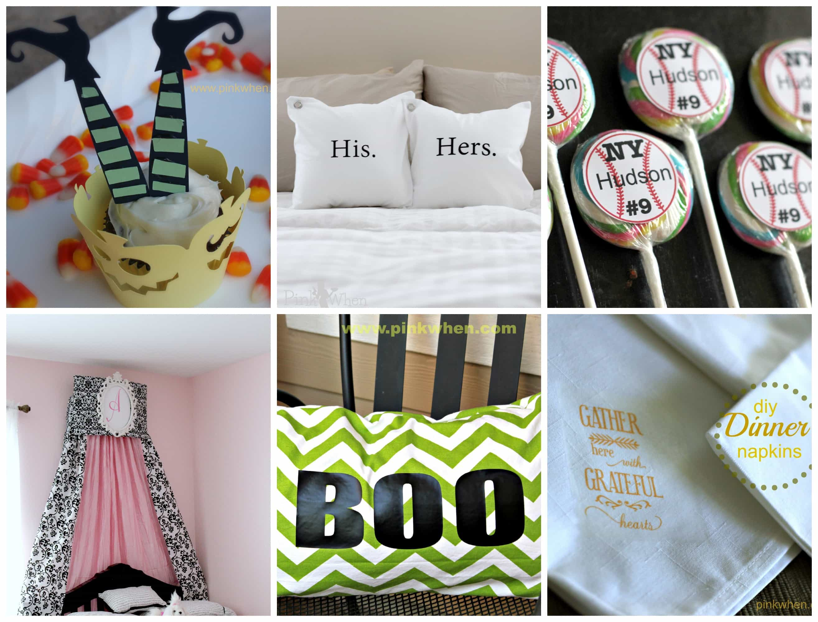 Silhouette Projects you can make via PinkWhen.com