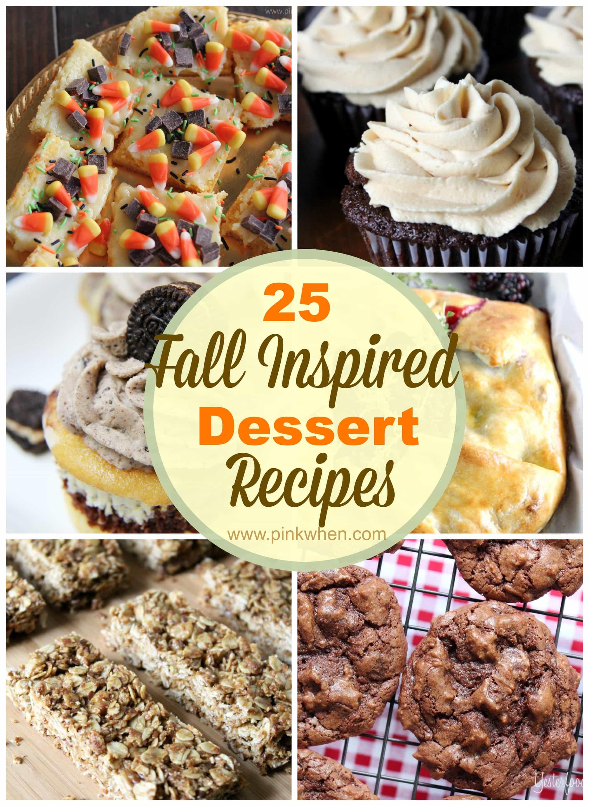 25 Fall Inspired Dessert Recipes via PinkWhen.com