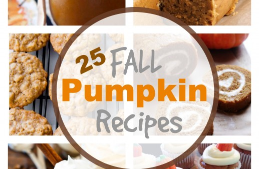 25 Fall Pumpkin Recipes via PinkWhen.com