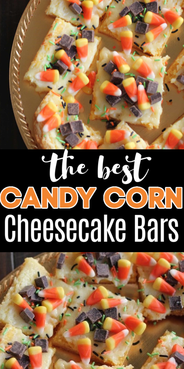 KID APPROVED! These delicious candy corn cheesecake bars are made in less than 30 minutes. This fun and easy fall-themed dessert is made with cake mix, cheesecake, chunks of chocolate, and our favorite fall treat, candy corn. They've even been featured on BUZZFEED.