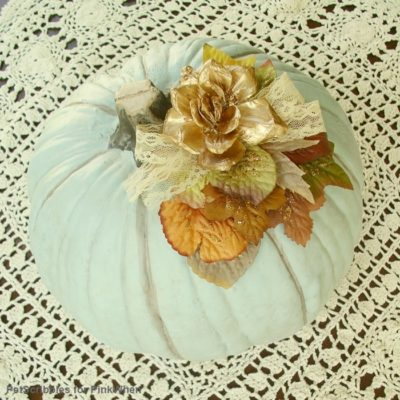 DIY Embellished Faux Pumpkin