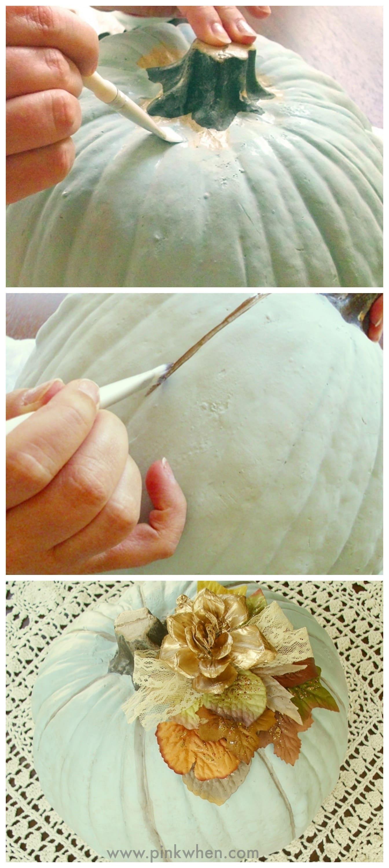 DIY Embellished Faux Pumpkin Project