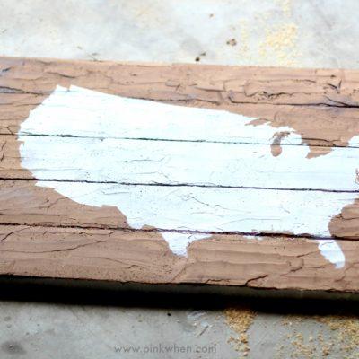 DIY Faux Wood Pallet Map Art