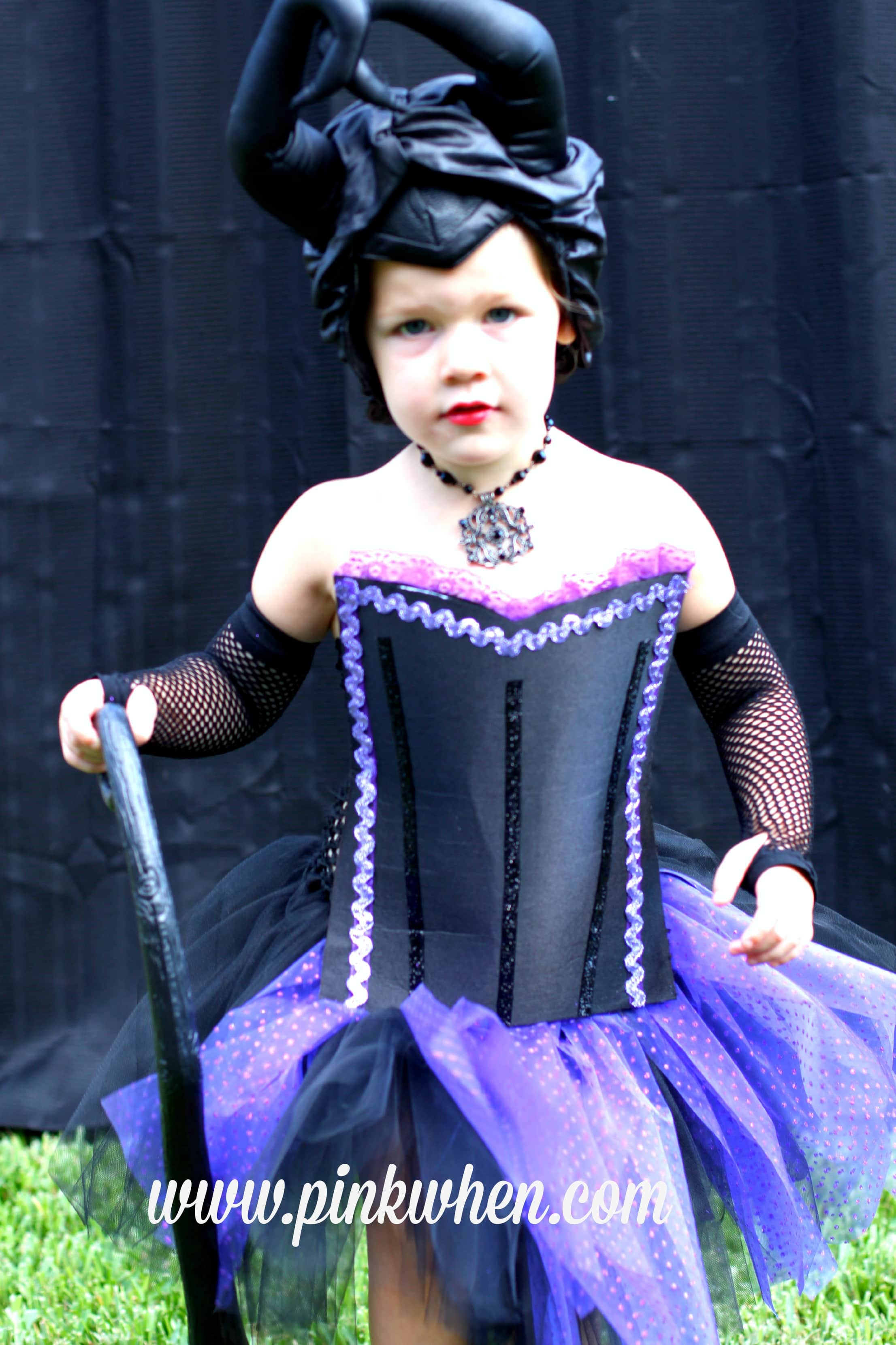 DIY No Sew Maleficent Costume Design