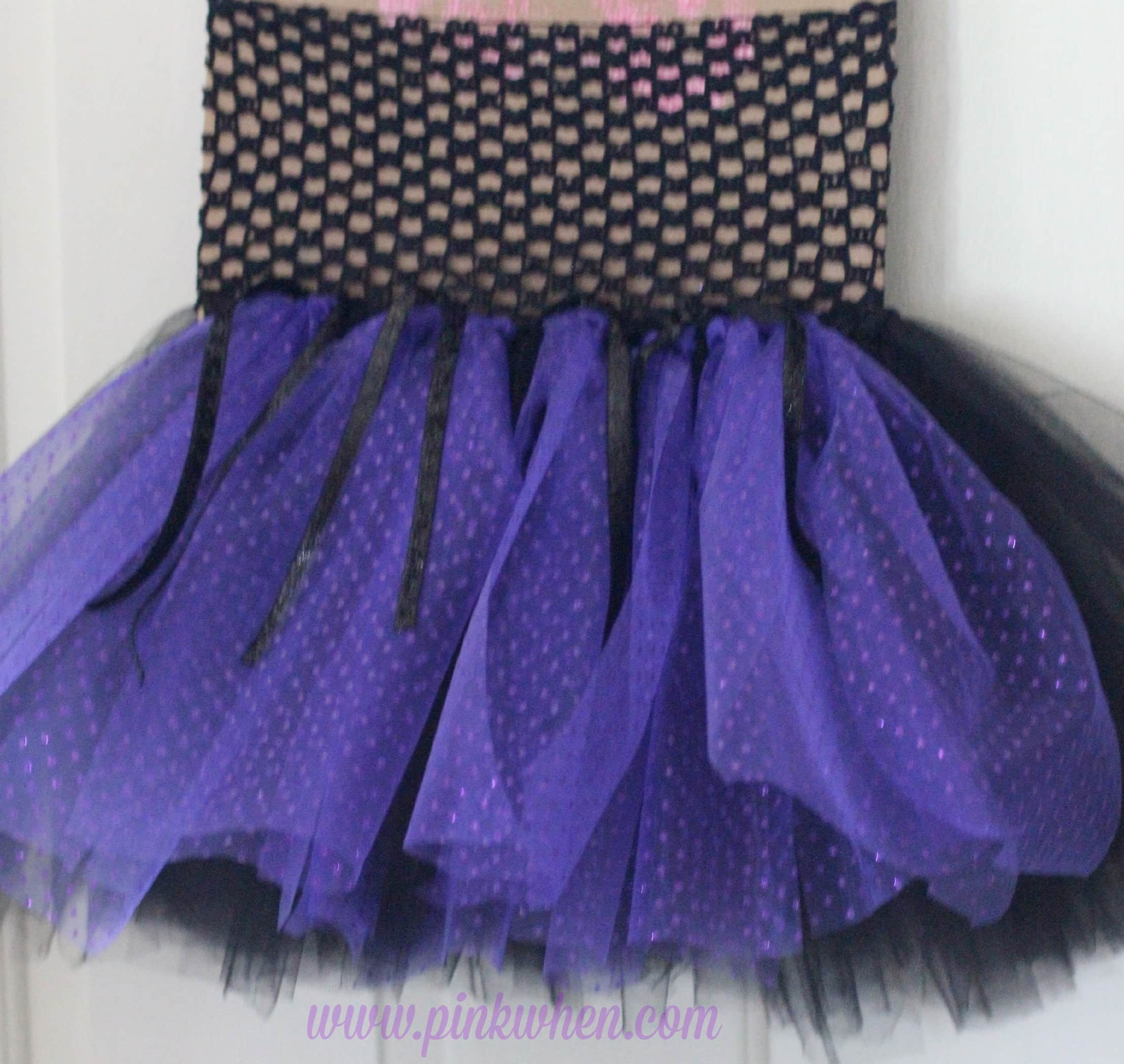 DIY No Sew Maleficent Costume Finished Skirt